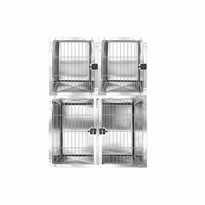 Half Bank Professional Stainless Steel Modular Dog Cage